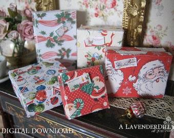 PDF Christmas Box Set B for Dollhouse Miniature 1/12 Scale DIGITAL DOWNLOAD
