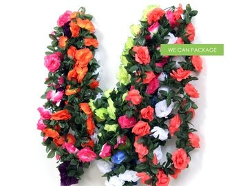 Flower Garland Banner for Weddings Birthday Party