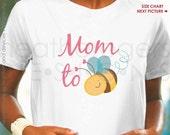 Pregnancy Announcement Shirt - Mom to Bee Maternity Shirt - Bumblebee Mom to Be Shirt - Baby Announcement shirt