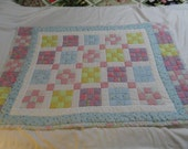 Nine Patch Pastel Baby Quilt 30x46