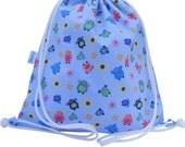 Waterproof Backpack Swim Bag Gym Bag Kids  Owl