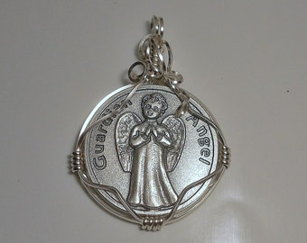 Guardian Angel (Baby) Medal Pendant