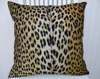 Leopard Print Pillow Cover- 18x18 or 20x20 or 22x22 Decorative Throw Pillow Cover- Lumbar Pillow Cover, Accent Pillow