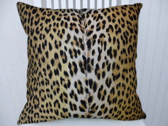 Leopard Print Pillow Cover 18x18 or 20x20 by CodyandCooperDesigns