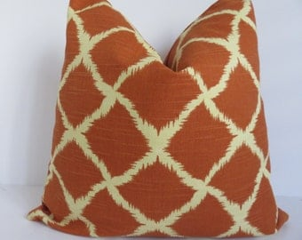 Red Orange Pillow Cover, Orange Geometric Pillow Cover, Pillow Cover