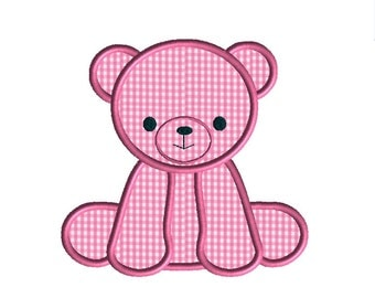 Little Bear Applique Machine Embroidery Design-INSTANT DOWNLOAD
