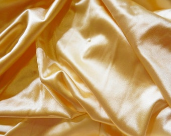 Light Yellow Stretch Satin 2 yards