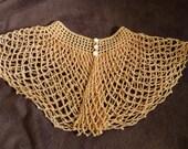 Vintage Women's Collar Crochet Lace Peach Coral Color