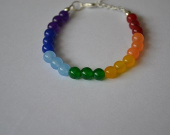 Multi gemstone bead bracelet