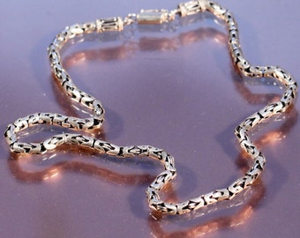 Vintage 80s Sterling Necklace Articulated Sophisticated European Jewelry