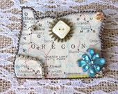 Oregon Puzzle Piece State Brooch