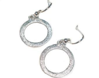 Halo Earrings - Sterling Silver