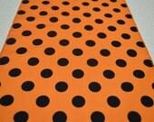 Orange and Black Polka Dots Table Runner