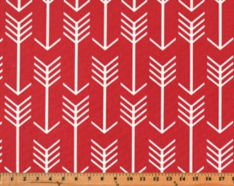 Red Arrow Curtain Panels or Valance