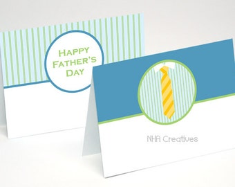 Father's Day Place Cards - Tie - DIY Printable Digital File