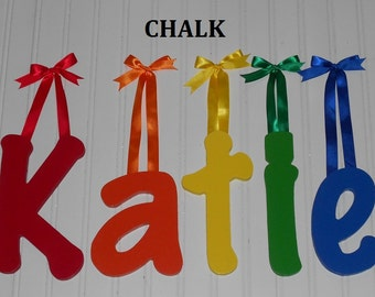 "SALE :) Wall Letters - Painted Wood - Chalk - plus other Fonts - Gifts and Decor for Nursery, Home, Playrooms, Dorms - 10"" Size"