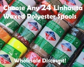Buy Any 24 Linhasita Macrame Colors- Whole Sale Discount Package- waxed polyester cord - Hilo