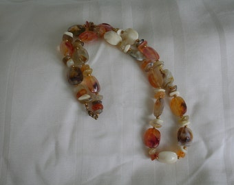 Vintage Multi Colored Lucite Necklace
