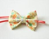 Baby Fabric Bow Headband, Floral Print Headband, Baby Headband, Spring Headband, Fabric Bow Headband
