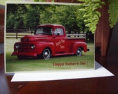 Father's Day Card, Ford Truck Card, Blank Inside, Old Truck Card, Historic Vehicle Card, Note Card