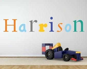 Name decal - Vinyl wall decal - Nursery wall decal - kids decal - Children wall decals - wall art