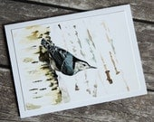 Nuthatch painting - Card