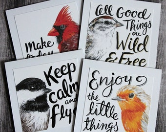 Quote Cards - Birds - Set of 4