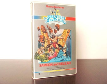 1987 VHS Samson and Delilah The Greatest Adventure Stories from the Bible