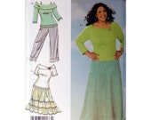 Skirt Top Capri Pattern Plus Size Simplicity 4605 Khaliah Ali Collection