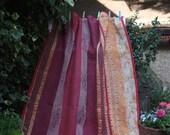 Deep Pink Kantha, Vintage Kantha Quilt, Sari Throw, Sari Blanket, Kantha Blanket, Kantha Throw, Indian Throw