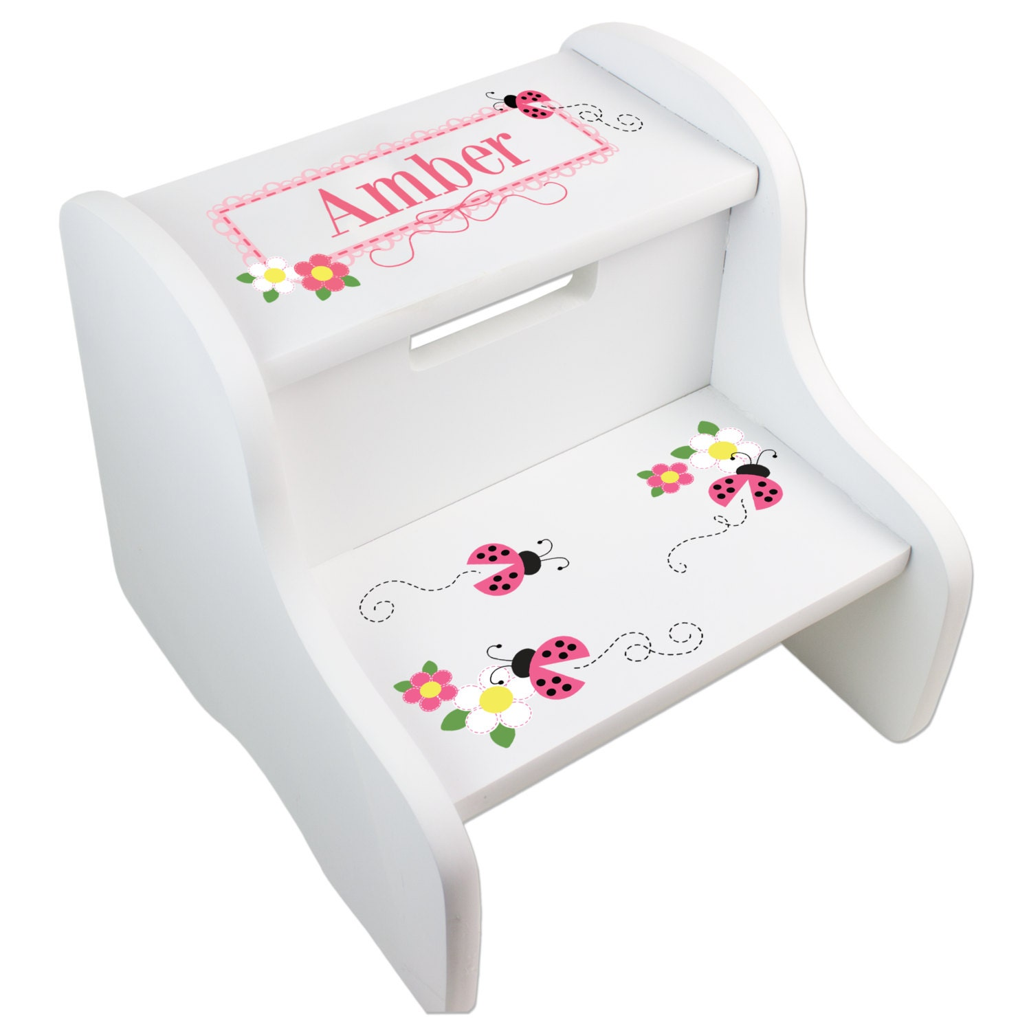 Personalized Children s Ladybug Step Stool for Lady by