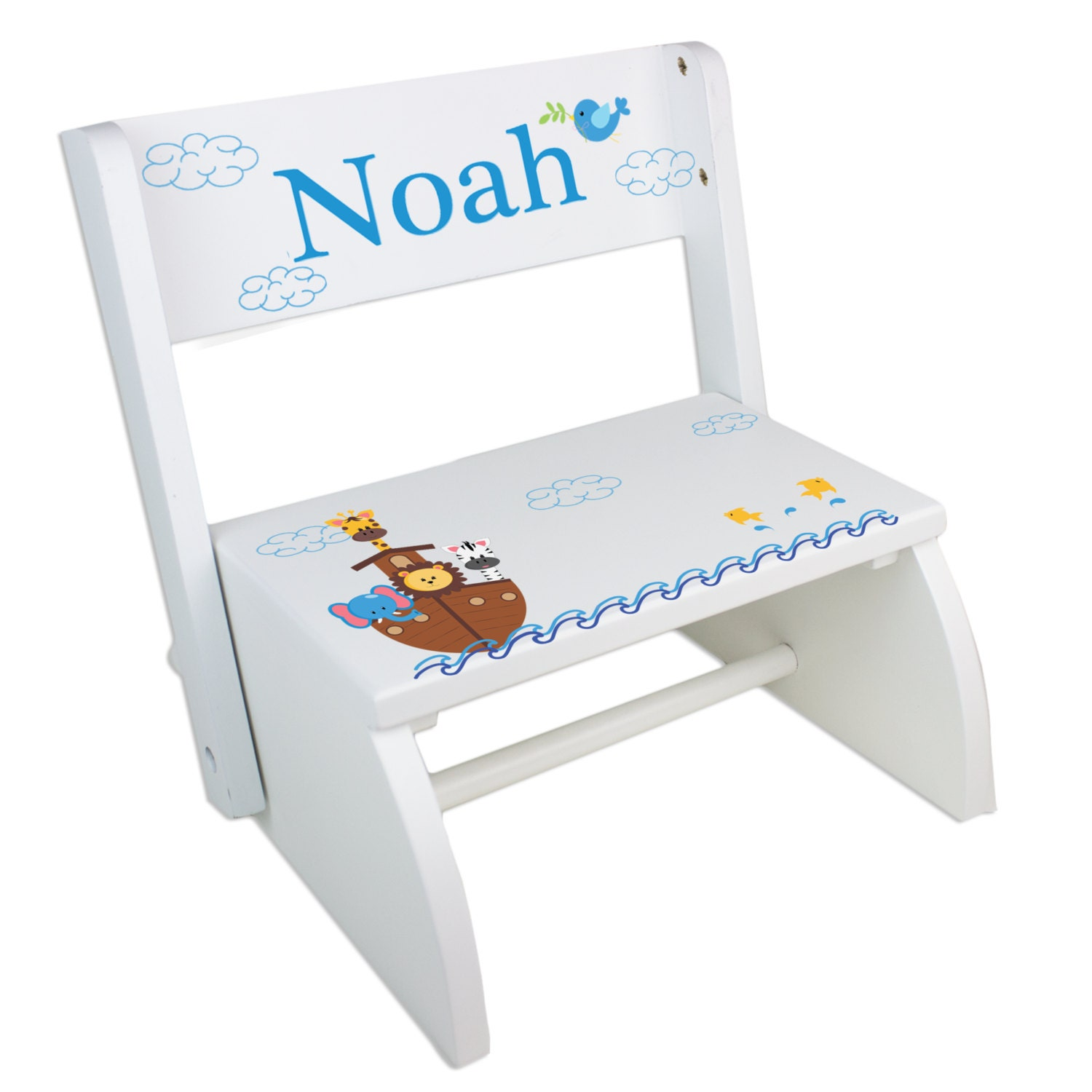 Personalized Noah S Ark Step Stool For Noahs Ark By Mybambino