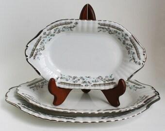 Set of 3 Vintage Serving Platters by Chodziez-Poland