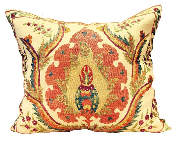 Hand Embroidered Suzani Pillow Cover MSP