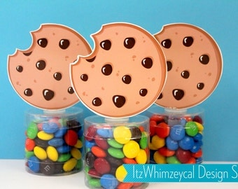 Chocolate Chip Cookies | Cookie Party Favors | Cookie Jar | Cookie Party | Candy Container | Party Favor Boxes | Kids Favors | Baby Shower