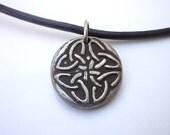 Irish knot Necklace, artisanal mandala jewelry, clay, Stonehenge, druids, Celtic folklore, Uncle's Birthday, Men's Accessories