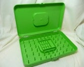 Vintage Thread Spool Storage Container Box, Lime Green