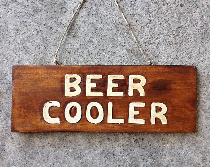 "Beach Decor sign ""BEER COOLER"""
