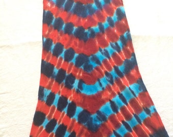 4T Toddler 4th of July Red White and Blue Tie Dye Tank Dress