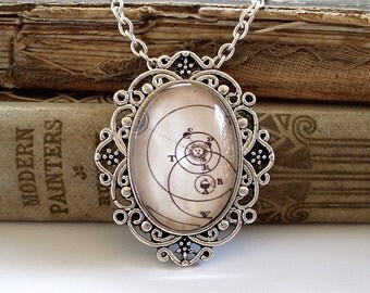 Antique Solar System Necklace in Silver - Solstice