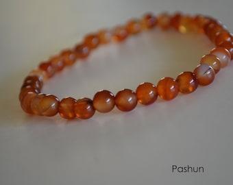 Yoga Stretch Bracelets ... Brown Glass Beads (1383)