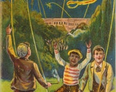 Vintage Postcard, 4th of July Hurrah, Young Boys with Fireworks, 1908