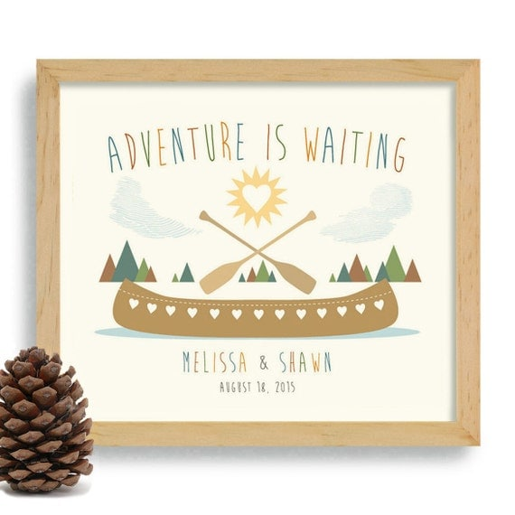 Wedding Gift Ideas For Nature Lovers : Nature Lover Gift Adventurous Couple Personalized Wedding Gift ...