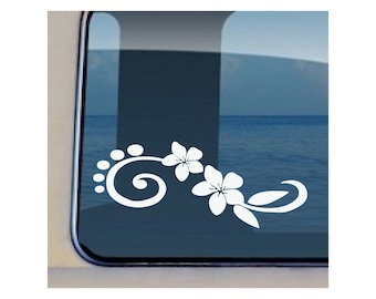 Plumeria Decal Hawaiian Flower Sticker - 191