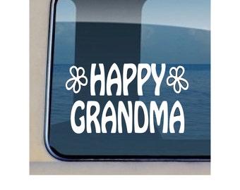 Happy Grandma Decal Family Mother Sticker 400