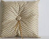Gold chevron Ringbearer pillow, Ringbearer pillow