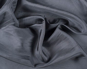 "45"" Wide 100% Silk Crepe de Chine Gray by the yard"