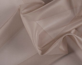 "45"" Wide 100% Silk Organza Bronze by the yard"