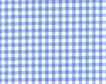 "60"" Blue Gingham Check Fabric (1/4"" check)- 20 Yards Wholesale by the Bolt"