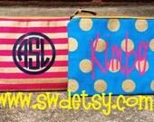 Personalized / Monogrammed Bag, Christmas Gift, Bachelorette Gift, Bridesmaid Gift